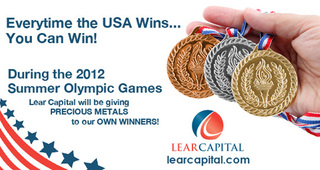 LEAR CAPITAL GIVES AWAY GOLD AND SILVER AMERICAN EAGLE COINS IN HONOR OF THE 2012 OLYMPICS