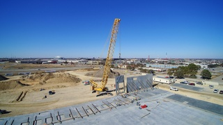 Largest Mobile Crane in North Texas Towers Over Arlington, Texas Skyline