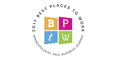 "Minneapolis/St. Paul Business Journal ""Best Places to Work"" logo."