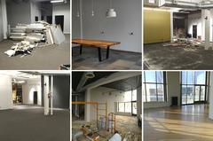 Plaudit office remodel progress photos.