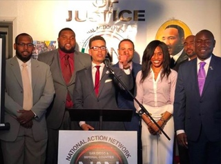 Thomas Jefferson School of Law Students and Professor Maurice Dyson speak at the National Action Network Hou…