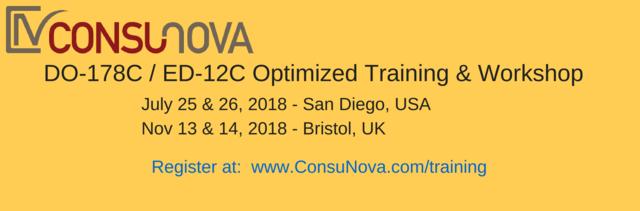 2018 Worldwide DO-178C Training by ConsuNova.