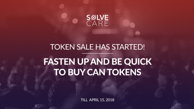 Solve.Care Token Sale Starts March 31