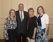 Ed McGuire pictured with wife Terri and daughters Kaylie Slaughter and Kelsey Campbell