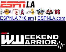 ESPNLA 710 am radio Weekend Warrior Broadcast with host Dr. Klapper