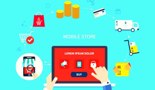 Illustration of online shopping<br />