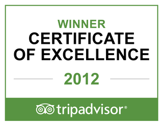 Winner of TripAdvisor's Certificate of Excellence 2012