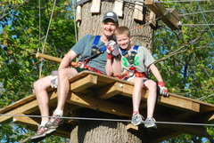 With Father's Day coming up, a shared climb and zip line together might be the perfect way to celebrate the day.