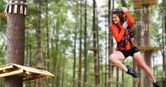 "Zip-line FUN at TreeTop Adventures, a ""summer bucket list"" must do!"