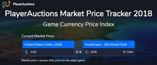 PlayerAuctions Provides OSRS Gold to USD Market Tracker Service