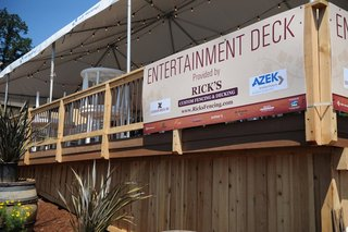 Entertainment Deck for NW Natural Street of Dreams, built by Rick&#039;s Custom Fencing &amp; Decking