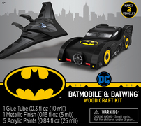 Batmobile and Batwing Wood Craft Kit