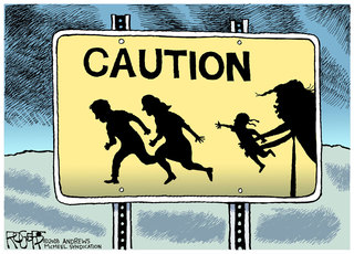 "Editorial cartoonist Rob Rogers gives protesters permission to use ""Immigrant Children"" cartoon"