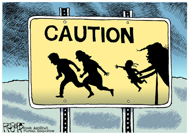 """Immigrant Children"" by Rob Rogers"