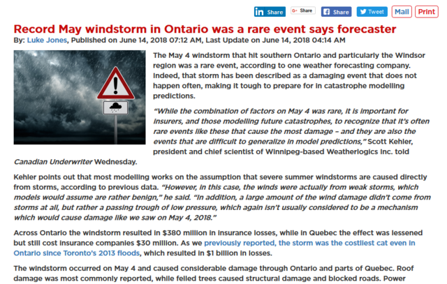 The May 4 windstorm that hit southern Ontario and particularly the Windsor region was a rare event...