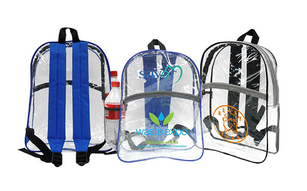Clear student backpacks can now be imprinted with a name, logo or message. Useful for businesses or organizations who has or wants customers who are students or their parents.