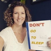 Author Megan Bayles Bartley with her new children's book titled Don't Go To Sleep and published July 30, 2018.