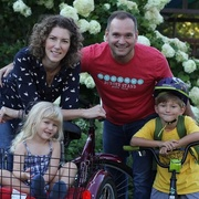 Louisville therapist and author Megan Bayles Bartley with her husband Ben and children Carter and Gracie.