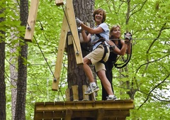 Teachers...up in the treetops? Sure! At Teacher Appreciation Days at The Adventure Park.<br />