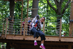 Zip lining teachers? -- You bet! At The Adventure Park.