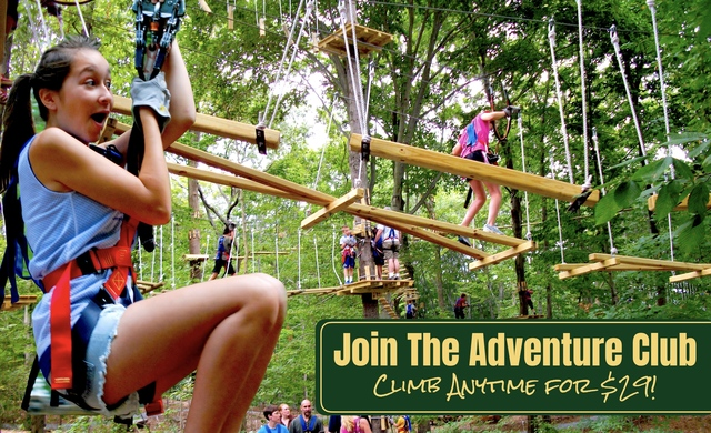 Members of the new Adventure Club enjoy discounted tickets and other benefits at The Adventure Park.