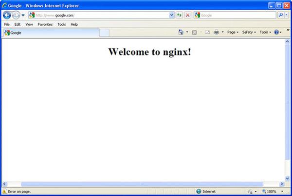 nginx virus hijacks web browsers and displays misleading error messages. Black Bedroom Furniture Sets. Home Design Ideas