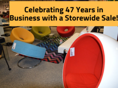 Find discounts on furniture, lighting, mattresses, and more when you stop into Contemporary Galleires this weekend as they celebrate 47 years in business with a storewide sale.