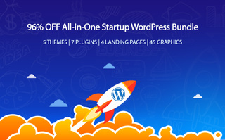Save 96% on the All-in-One Startup WordPress Bundle