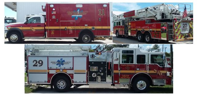 Fire fleet at Seminole County, Florida.