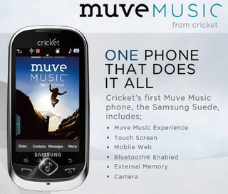 Muve Music from Cricket Wireless offers unlimited music downloads with no contract required.