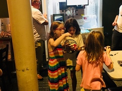 Cooper and Freezeman is a huge hit among the children who visit the Kentucky Science Center. The froyo robot can serve up to 60 cups an hour.