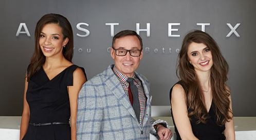 The team at Aesthetx. From left to right: Kamakshi R. Zeidler, MD.FACS; R. Laurence Berkowitz, MD; Amelia K. Hausauer, MD, FAAD