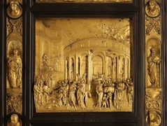 The Porta Del Paradiso, a gilded bronze renaissance masterpiece was one of the first artworks to be cleaned by laser cleaning