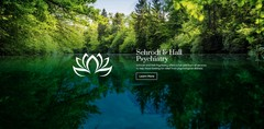 The new website design for Schrodt and Hall Psychiatry features information about both Drs. Schrodt and Hall as well as an overview of the services provided and frequently asked questions.