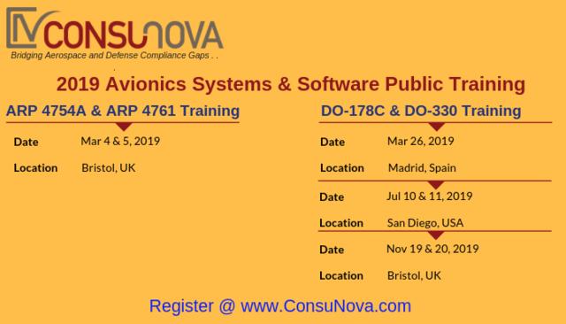 Optimized DO-178C and ARP 4754A/4761 Training by ConsuNova