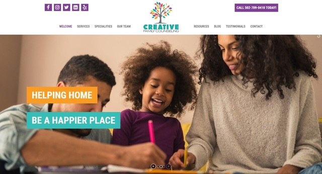 Creative Family Counseling has launched a new website in conjunction with the opening of a new practice in Louisville, Kentucky.