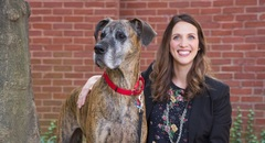 Lacey and her Great Dane, Lola the Therapy Dog, work together offering one of Creative Family Counseling's specialties – animal assisted therapy.