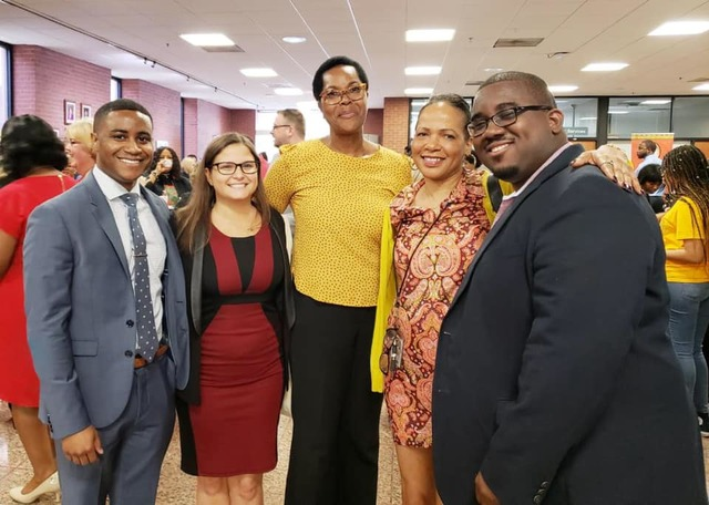 Brian Lawrence, Kimberlee Martin of Fisher Rushmer, P.A., Dr. Arlene Thompson, of Washington Shores Elementary, Ms. Kimberly Palmer, of Washington Shores Elementary, and Brandon Sapp