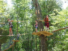 Navigating the aerial trails at The Adventure Park at Nashville