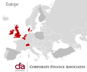 Corporate Finance Associates Worldwide Expands Global Presence to Europe, including United Kingdom