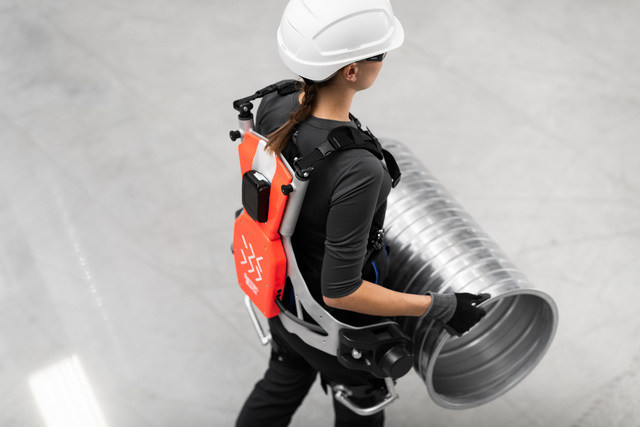 The German Bionic Cray X robotic exoskeleton is a human-machine system that combines human intelligence with machine power, by supporting and strengthening the wearer's movements.