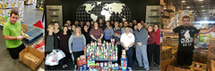 Vantagepoint Ai team collected 411 pounds of food to honor Lee Mendelsohn.