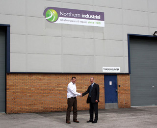 Northern Industrial's David Lenehan with Martin Lamb of Control Techniques