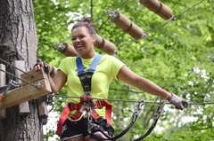 A climb in the trees at The Adventure Park is exhilarataing fun.