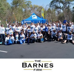 The Barnes Firm Sponsored San Diego River Earth Day Cleanup