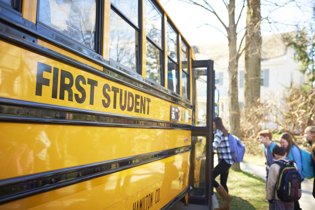 First Student will manage and operate 165 bus routes for Hamilton County Schools as part of a three-year contract.