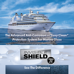 "INVISIBLE SHIELD® PRO 15 is the ""easy clean"" solution to preserve & protect marine glass against the e…"