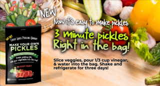 Reduce Food Waste With New Three Minute Pickle Making Pouches