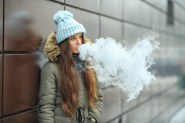 """The act of """"vaping"""" or inhaling vaporized liquid from an electronic smoking device is becoming increasingly popular among American teenagers while cigarette smoking rates are at an all-time low."""