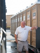 BJ Davis, co-owner of Moon Portable Restrooms, believes in delivering top of the line bathroom rental service with an extensive line of luxury bathrooms available for rent.